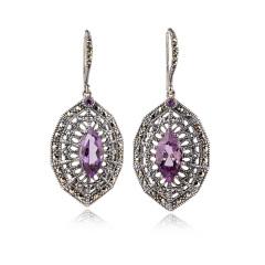 MARC皇室复古紫水晶耳钉