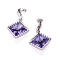 Aurora紫色梦幻耳环 货号111541