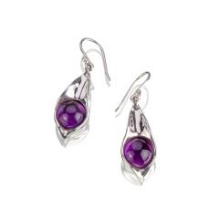 灵动紫水晶耳坠 货号113009