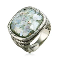 Zuman玻璃方形戒指  货号114452
