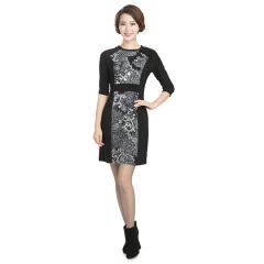 N.L针织拼块连衣裙 货号115688