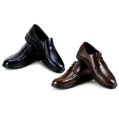 澳威盾男士头层牛皮商务休闲鞋  货号120763