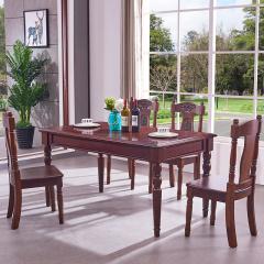 富阁美式豪华实木餐厅套组 货号121843