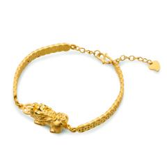 金一招财纳福黄金貔貅手链 货号122442