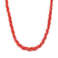 保丽金红珊瑚项链双11组
