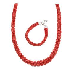 保丽金红珊瑚排链央广独供组