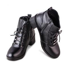 箴美经典牛皮保暖短靴