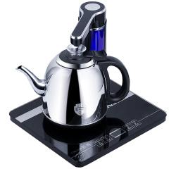 欧博(OPO)S111 电热水壶电茶盘自动旋转上水抽水电水壶304不锈钢烧水壶黑色