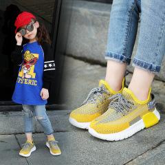 儿童运动鞋男女童鞋2020新款春季飞织网面鞋透气男孩椰子鞋学生鞋
