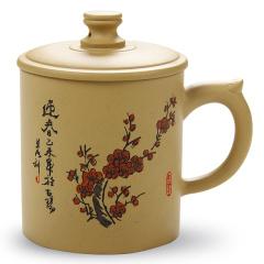 金镶玉 宜兴紫砂杯 梅香疏影泡茶杯 大容量段泥手工水杯茶具办公杯
