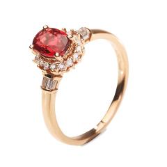 1克拉无烧红宝石戒指套组