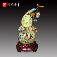 中艺堂收藏品王习三葫芦内画福禄双全家居摆件艺术品送礼礼品