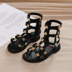 夏季女童罗马凉鞋2020新款儿童鞋子沙滩鞋时尚小女孩洋气公主鞋潮