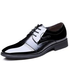 俊斯特四季款经典亮皮男士皮鞋 尖头商务正装男鞋单鞋