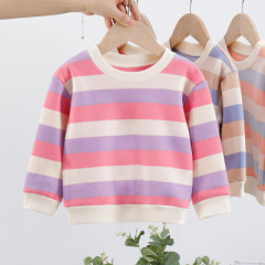 男女童冬装新款外套女宝宝韩版卫衣针织套头打底衫儿童加绒加厚卫衣