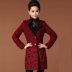 瑅艾 女士蕾丝呢子大衣 CBM1710(2色可选)