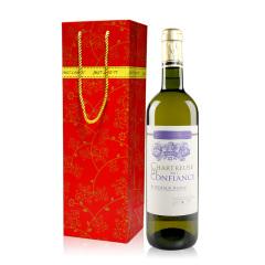 查特康菲丝波尔多干白 法国原瓶进口白葡萄酒 波尔多法定产区AOC 单支送礼袋