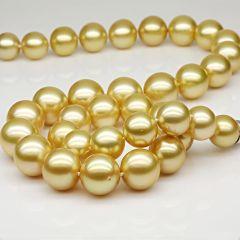 金色奢华10mm贝宝珠项链套装