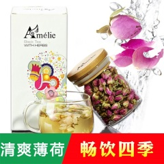 Amelie 玫瑰花茶 法兰西玫瑰 60g/罐