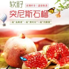 【新鲜水果】突尼斯软籽石榴极致典雅黑特级果精品礼盒 6个装 (单果约500g)