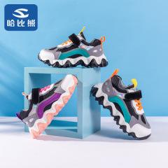 哈比熊  潮男童鞋2020春季新款单鞋女童休闲鞋透气运动鞋品牌波浪鞋