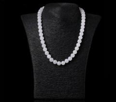 琳福珠宝  天然和田玉项链女 白玉项链 正品 带证书