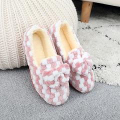 冬季加绒保暖学生宿舍棉鞋室内家居懒人鞋护脚包跟鞋女妈妈鞋