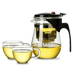 金镶玉 飘逸杯1号套装 耐热耐高温可拆洗内胆 玲珑茶杯茶壶