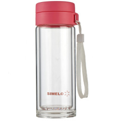 SIMELO 玻璃杯 330ml高硼硅自然元素系列 双层休闲杯蓝色SM1640