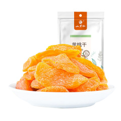 山里仁 黄桃干160g黄桃果脯水果干水蜜桃子肉果脯蜜饯水果干