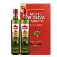 西班牙原装进口欧蕾特级初榨橄榄油750ml两瓶礼盒装
