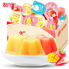 味滋源 水果味果冻500g/箱水果汁芒果草莓玉米酸奶味休闲零食品儿童