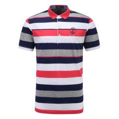 皇家棕榈马球俱乐部男士短袖条纹休闲POLO衫翻领男士T恤13524102