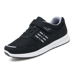 2019夏季新款跑步防滑软底运动鞋休闲鞋安全老人鞋健步网鞋中老年