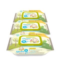 韩国原装进口木之惠Living芦荟婴儿湿巾3包装