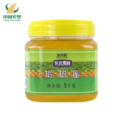 【中国农垦】北大荒 黑龙江农垦 东北黑蜂蜜 成熟蜂蜜 椴树蜜1kg*2