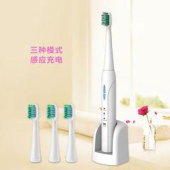 瑞仕康(RSK)成人电动牙刷 感应充电防水声波电动牙刷1支 赠替换电动牙刷头3个