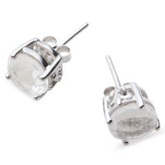 Chateau银镶水晶耳钉 货号114176