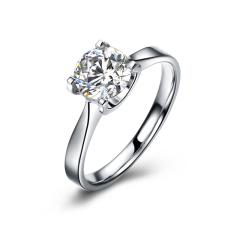 DODOBEL WOMEN 18K金白色经典永恒天然钻石钻戒50分