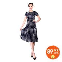 N.L针织腰带连衣裙 货号109426
