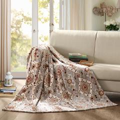 LOVO罗莱家纺超柔法兰绒加州风情毯