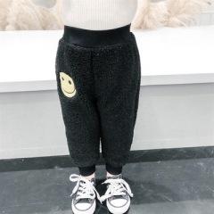 女童加绒裤子洋气婴儿童休闲裤加厚女宝宝冬装棉裤
