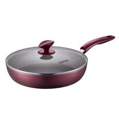 苏泊尔28cm玻璃盖火红点煎锅平底锅不粘电磁炉通用