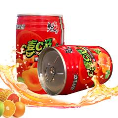 魁牌(魁) 果汁饮品罐头248g 嘻吸果肉果汁饮料*6罐