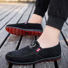 老北京布鞋男士2020春季新款休闲单鞋板鞋低帮水洗帆布豆豆鞋男