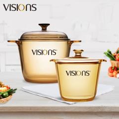 美国康宁晶彩透明锅组合VS35+VS12FL