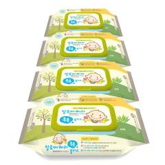 韩国原装进口木之惠Living芦荟婴儿湿巾4包装