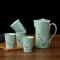 鼎匠樱花水具5件套陶瓷茶杯套装家用杯具客厅茶具茶壶杯子水杯整套杯简约水具