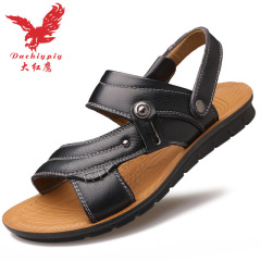 2020大红鹰男士凉鞋男秋季新款沙滩鞋休闲鞋大码鞋透气防滑耐磨凉拖鞋
