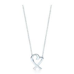 Tiffany & Co./蒂芙尼 女士纯银Loving Heart爱心吊坠项链 33834764